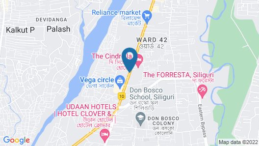 Lemon Tree Hotel Siliguri Map