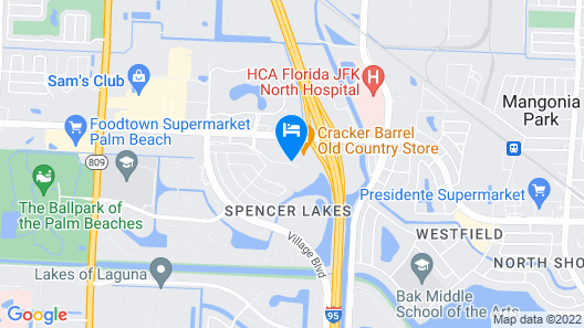 Red Roof Inn PLUS+ West Palm Beach Map