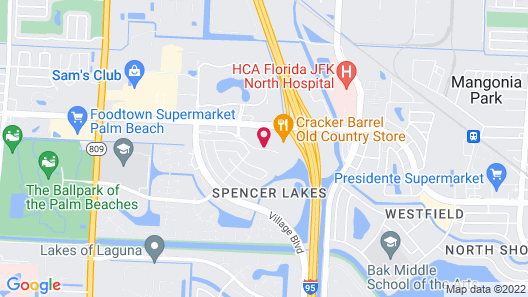 Springhill Suites by Marriott West Palm Beach Map