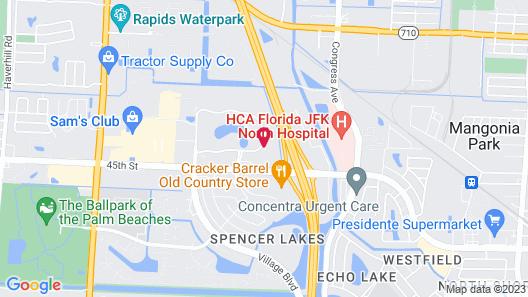 Courtyard by Marriott West Palm Beach Map