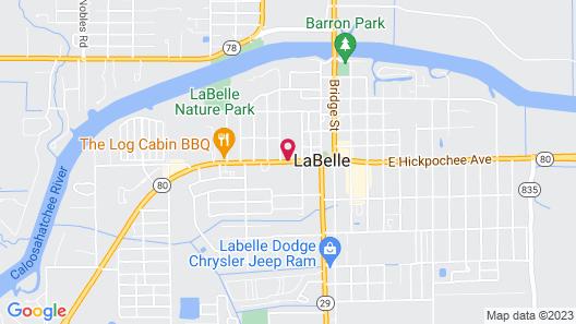 LaBelle Motel Map