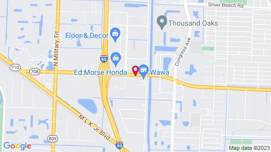 Travelodge by Wyndham Riviera Beach/West Palm Map