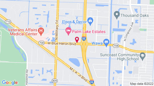 Super 8 by Wyndham Riviera Beach West Palm Beach Map
