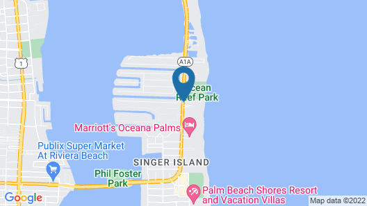 Palm Beach Marriott Singer Island Beach Resort & Spa Map