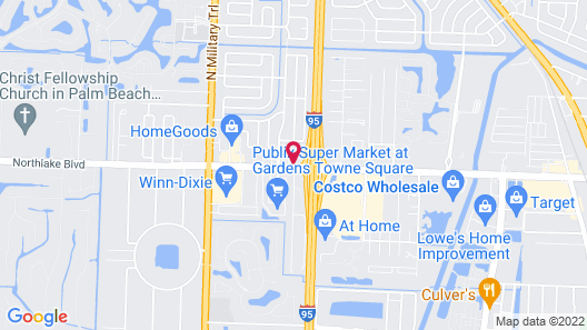 Inn of America - Palm Beach Gardens Map