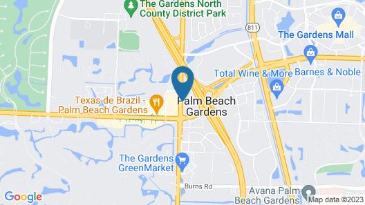 Doubletree By Hilton - Palm Beach Gardens Map