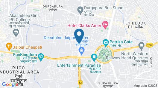 Radisson Blu Jaipur Map