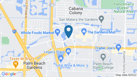 Hilton Garden Inn Palm Beach Gardens Map