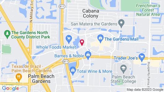 Hilton Garden Inn Palm Beach Gardens Map