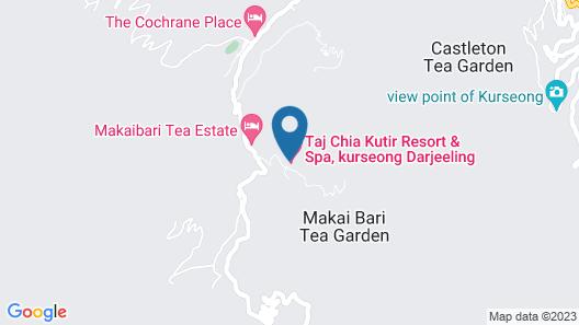 Taj Chia Kutir Resort & Spa Darjeeling Map