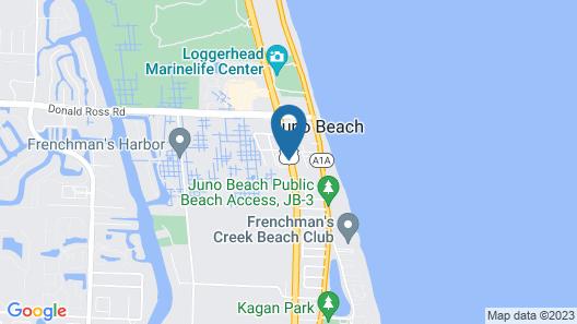 Hampton Inn - Jupiter/Juno Beach Map