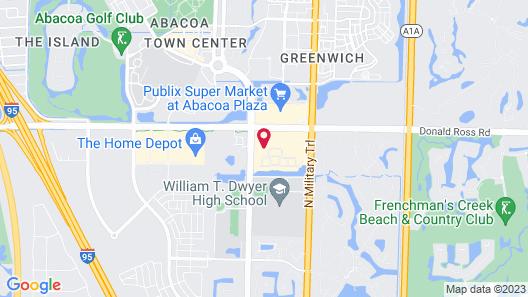 Homewood Suites by Hilton Palm Beach Gardens Map