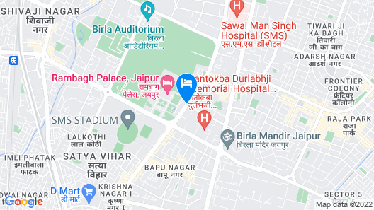 Royal Orchid Central Jaipur Map