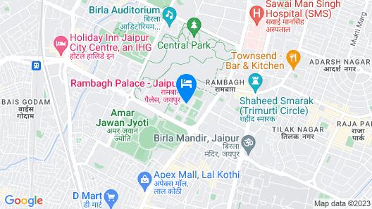 Rambagh Palace Map