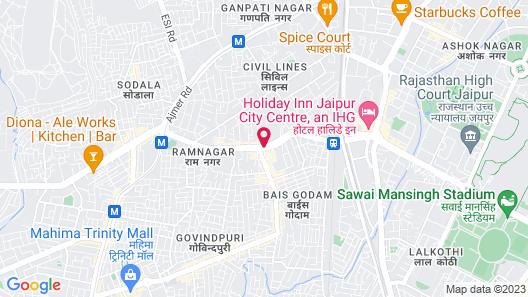 Hilton Jaipur Map