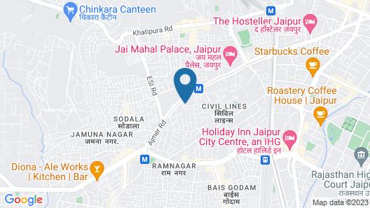 ibis Jaipur Civil Lines Hotel Map