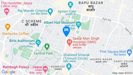 Lords Plaza, Jaipur Map