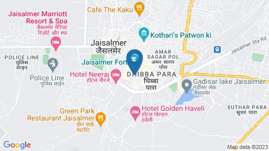 Moustache Jaisalmer Map