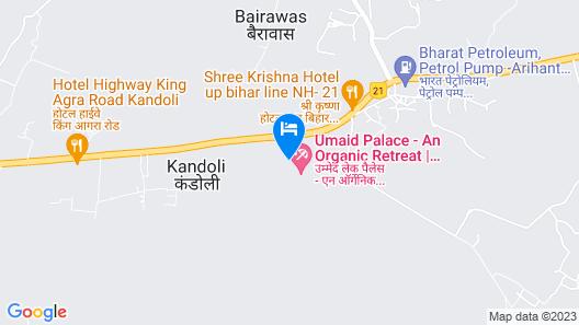 Umaid Lake Palace - An Organic Retreat Map