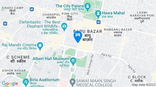 Jaipur Hotel New Map