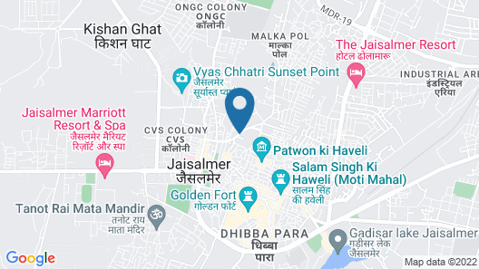 Hotel Lal Garh Fort And Palace Map