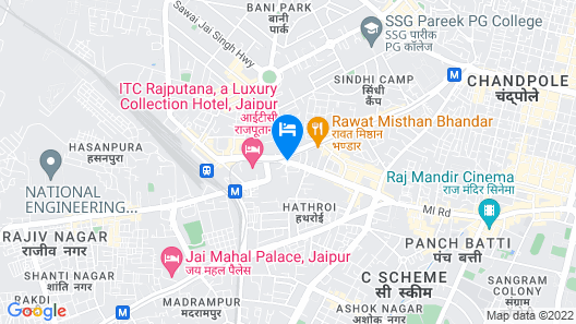 Radisson Jaipur City Center Map