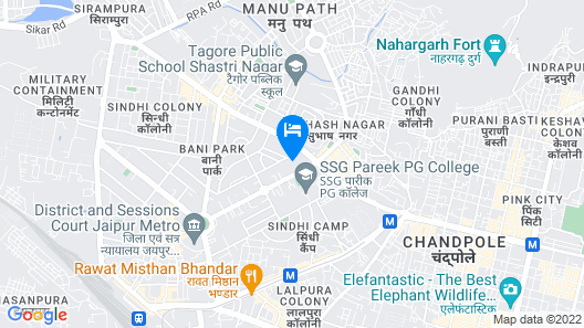 Lemon Tree Premier, Jaipur Map