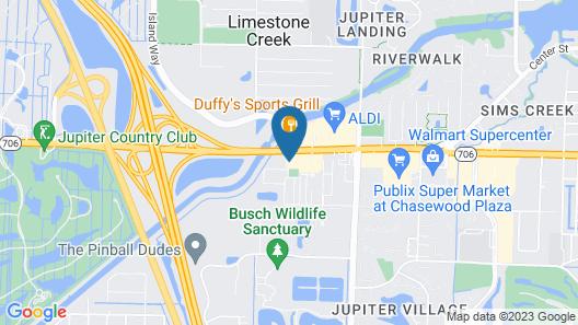 Comfort Inn & Suites Jupiter I-95 Map
