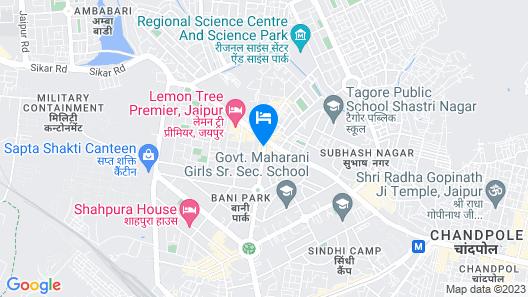 Zone by The Park Bani Park Jaipur Map