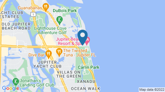 Jupiter Beach Resort & Spa Map