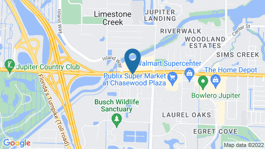 Fairfield Inn and Suites by Marriott Jupiter Map
