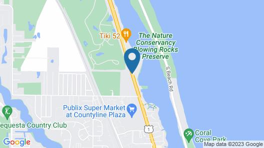 Jupiter Waterfront Inn Map
