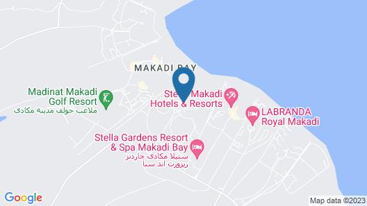 Cleopatra Luxury Beach Resort Makadi Bay - Adults Only Map