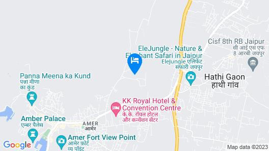 Hotel Raj Bagh Palace Map