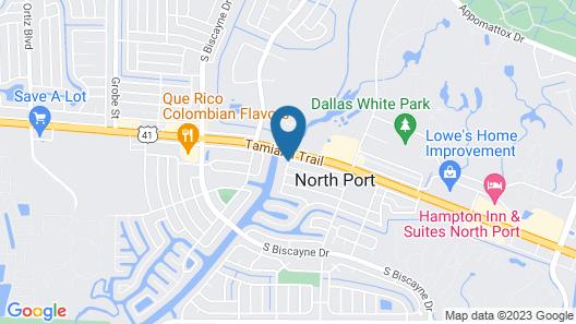 Americas Best Value Inn & Suites North Port Map