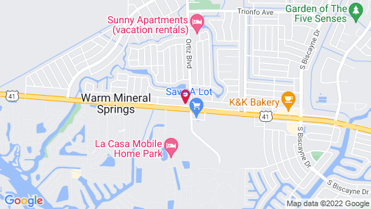 Warm Mineral Springs Motel Map