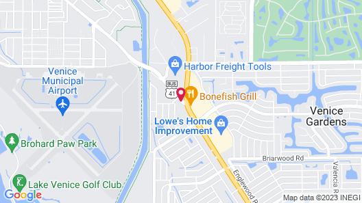 Sunshine Inn & Suites Venice, FL Map