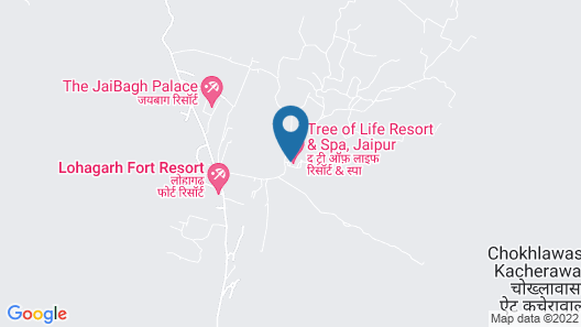 The Tree of Life Resort & Spa, Jaipur Map