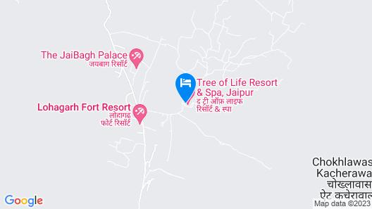 The Tree of Life Resort & Spa, Jaipur Map