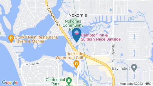 Hampton Inn & Suites Venice Bayside South Sarasota Map