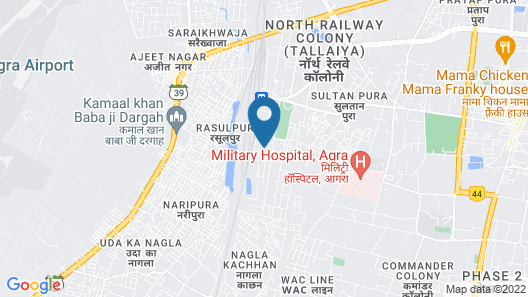 Grand Hotel Agra Map