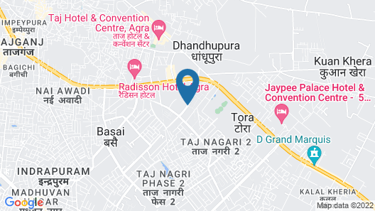 Courtyard by Marriott Agra Map
