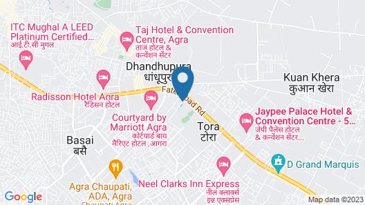 Orient Taj Hotels and Resorts Map