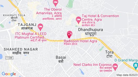 Radisson Hotel Agra Map