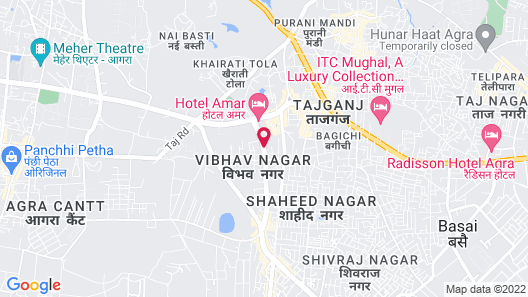 Hotel Dazzle Agra Map