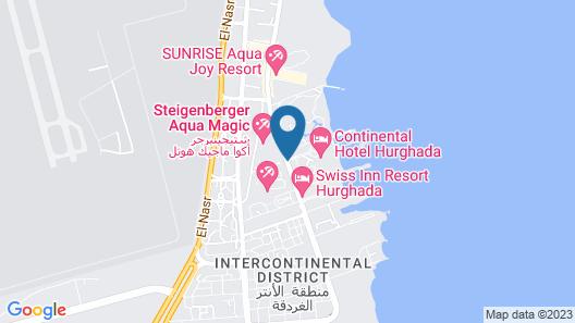 Continental Hotel Hurghada Map