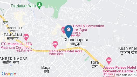 Taj Hotel & Convention Centre, Agra Map