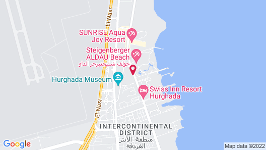Steigenberger ALDAU Beach Hotel Map