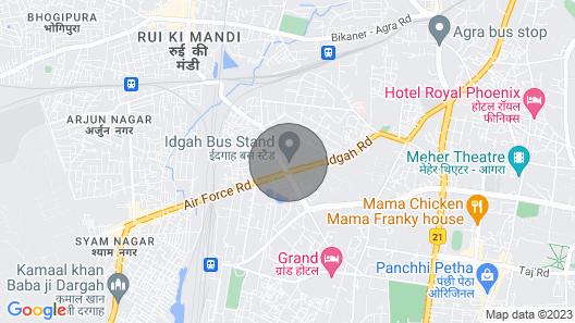 Hotel Riya Palace Agra Map