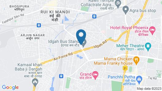 Capital O 9367 Hotel Agra Cantt Map